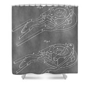 Vintage Glass Mold Patent Shower Curtain