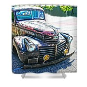 Vintage Gm Truck Frontal Hdr Shower Curtain