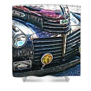 Vintage Gm Truck Hdr 2 Grill Art Shower Curtain
