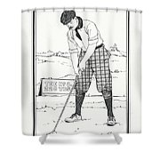 Vintage Golfer 1900 Shower Curtain