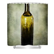 Vintage Green Glass Bottle Shower Curtain