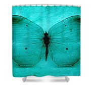 Vintage Grunge Butterfly Shower Curtain