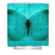 Vintage Grunge Butterfly Shower Curtain