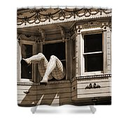 Vintage Haight And Ashbury San Francisco Shower Curtain by RicardMN Photography