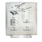 Vintage Hair Clippers Patent Shower Curtain