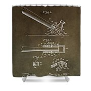 Vintage Hammer Patent Shower Curtain