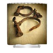 Vintage Handcuffs Shower Curtain