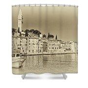 Vintage Harbor Shower Curtain