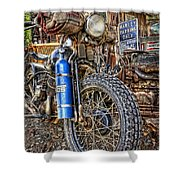 Vintage Harley With Nos Shower Curtain