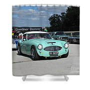 Vintage Healey In Starting Grid Shower Curtain