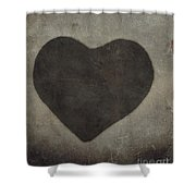 Vintage Heart Shower Curtain