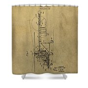 Vintage Helicopter Patent Shower Curtain