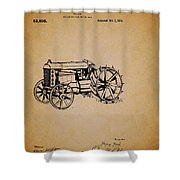 Vintage Henry Ford Tractor Patent Shower Curtain