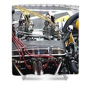 Vintage Hotrod Engine Shower Curtain