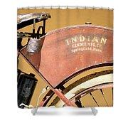 Vintage Indian Bike Shower Curtain