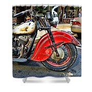 Vintage Indian Motorcycle - Live To Ride Shower Curtain