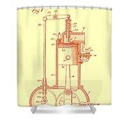 Vintage Internal Combustion Engine Patent 1940 Shower Curtain