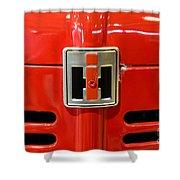 Vintage International Harvester Tractor Badge Shower Curtain