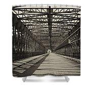 Vintage Iron Truss Bridge Shower Curtain