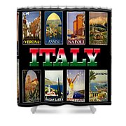 Vintage Italy Travel Posters Shower Curtain