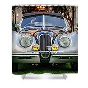 Vintage Jaguar -0924c Shower Curtain