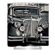 Vintage Jaguar 1950s Shower Curtain