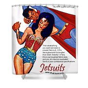 Vintage Jetsuit Advertisement Shower Curtain