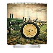 Vintage John Deere Tractors Shower Curtain