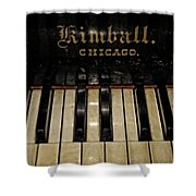 Vintage Kimball Piano Shower Curtain