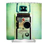 Vintage Kodak Brownie Movie Camera Shower Curtain