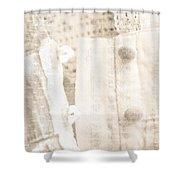 Vintage Lace Unbuttoned Shower Curtain