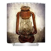 Vintage Lantern Shower Curtain