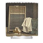Vintage Laundry Room II By Edward M Fielding Shower Curtain