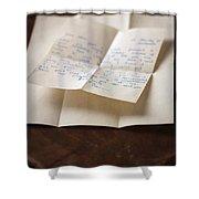 Vintage Letter Shower Curtain