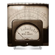 Vintage Light Meter Shower Curtain by Edward Fielding