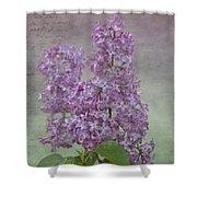 Vintage Lilacs Shower Curtain