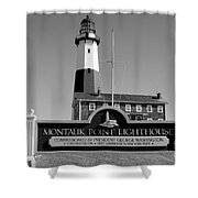 Vintage Looking Montauk Lighthouse Shower Curtain