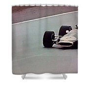 Vintage Lotus Racer In Action Shower Curtain