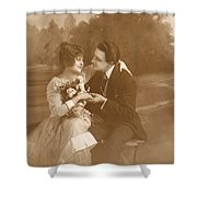 Vintage Lovers Shower Curtain