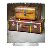 Vintage Luggage Shower Curtain