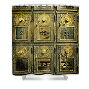 Vintage Mailboxes Shower Curtain