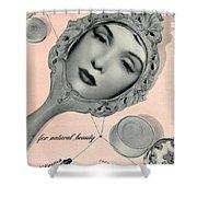 Vintage Make Up Advert Shower Curtain