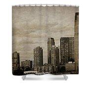 Vintage Manhattan Skyline Shower Curtain