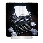 Vintage Manual Typewriter Shower Curtain