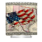Vintage Map Of Texas 2 Shower Curtain