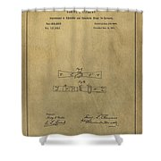 Vintage Mark Twain Patent Shower Curtain