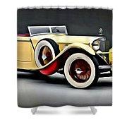 Vintage Mercedes Convertible Shower Curtain