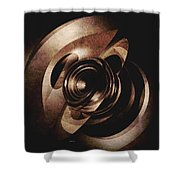 Vintage Metal Abstract Shower Curtain
