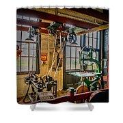 Vintage Michigan Machine Shop Shower Curtain
