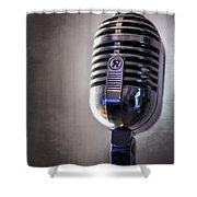 Vintage Microphone 2 Shower Curtain